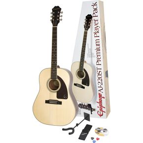 Epiphone Acoustic Guitar: AJ-220ST Guitar Pack
