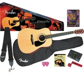 Click to buy Fender Acoustic Guitars: DG-8S Value Pack from Musician's Friends!