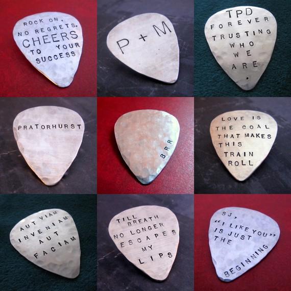Hand Stamped Guitar Picks