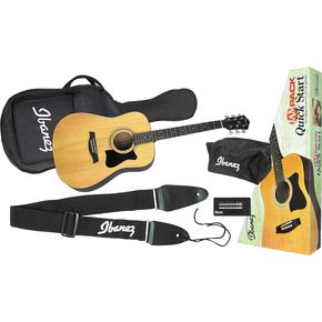 Click to buy Ibanez Acoustic Guitar: JamPack IJV50 Quickstart Dreadnought Guitar Pack from Musician's Friends!
